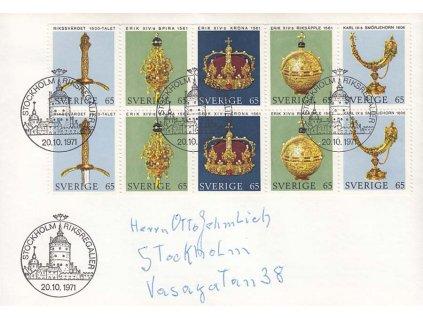 1971, FDC se soutisky MiNr.723-27