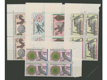 1972, 20h-2.60Kčs Drátenické řemeslo, roh. 4bloky, **