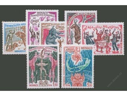 1974, 0.02-5Fr série Cirkus, MiNr.1130-36, **