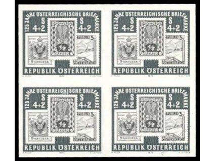 1975, 4S Den známky, černotisk, 4blok, (*)