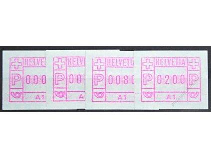 1976, 5C, 40C, 80C a 2Fr automatové známky, **