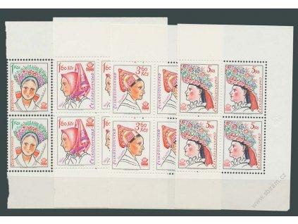 1977, 1-5Kčs Kroje, 4bloky, Nr.2263-66, **
