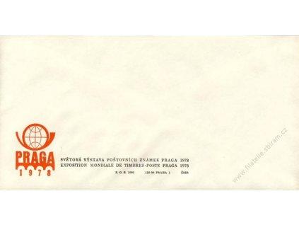 1978, PRAGA, Výstava známek, propagační obálka
