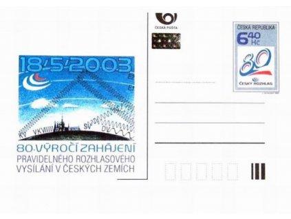 CDV 79 80. výročí rozhlasového vysílání