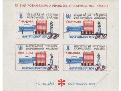 1979, Gottwaldov, Výstava známek ČSSR-KUBA, PL, **