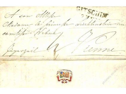 Gitschin, skládaný dopis z roku 184?