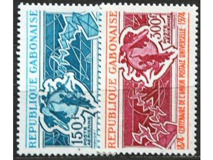 Gabun, 1974, 150-300Fr série UPU, **