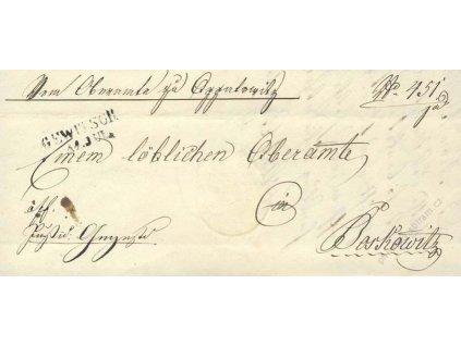 Gewitsch, skládaný dopis z roku 1845