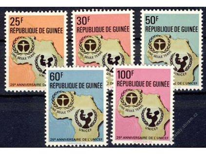 Guinne, 1972, 25-100Fr série, MiNr.654-58, **