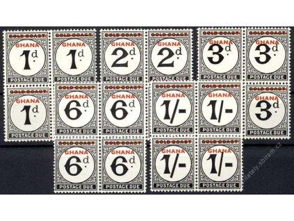 Ghana, 1958, 1P-1Sh doplatní, 4bloky, MiNr.1-5, **
