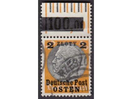 Generalgouvernement, 1939, 2Zl/100Pf s okrajem, razítkované