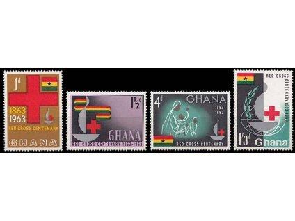 Ghana, 1963, 1P-1.30Sh´P série, MiNr.145-48, **