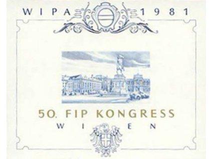 1981, pamětní tisk, 50. FIP KONGRES, (*)