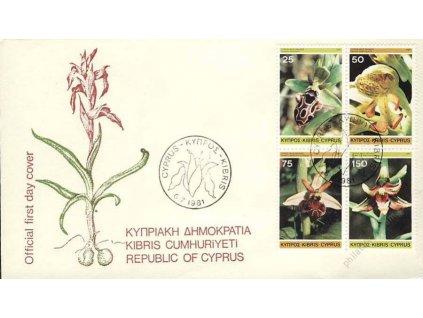 1981, FDC 552-555 Orchideje