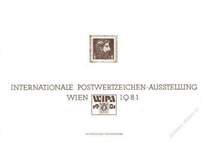 1981, WIPA 1981, pamětní list, pohlednicový formát