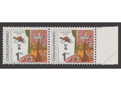 1981, 1Kčs BIB, VV - :ČSSR) místo (ČSSR), Nr.2503, **