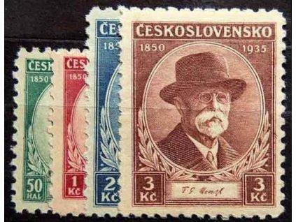 1935, 50h-3Kč série TGM, Nr.285-8, **