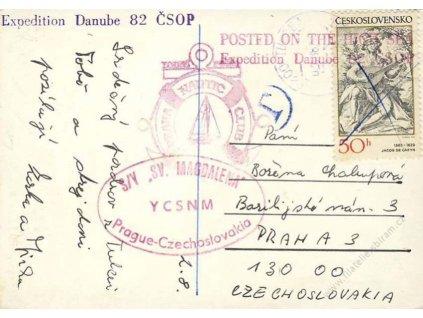 1982, Expedition Danube 82 ČSOP, pohlednice