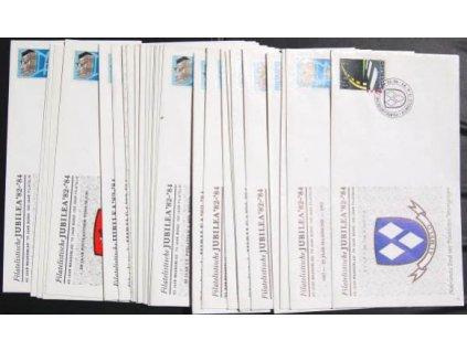 1982, 28 kusů obálek z 30 kusové sady Filatelistická jubilea