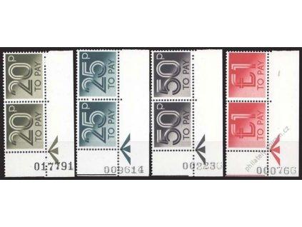 1982, 20P-1Pound doplatní, 2pásky, MiNr.76-79, **