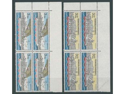 1982, 3-3.60Kčs Dunaj, roh. 4bloky, Nr.2551-52, **