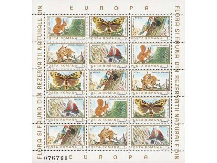 1983, aršík Fauna, MiNr.Kl.3982-86, **