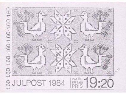 1984, známkový sešitek Ptáci, MiNr.1307-10, **