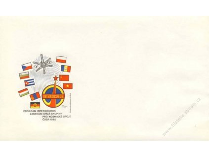 1985, Program Interkosmos, propagační obálka
