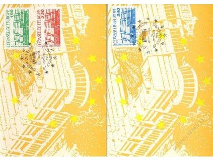 1986, Carte Maxima Europat, MiNr.40-42