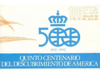 1986, známkový sešitek Objevení Ameriky, **