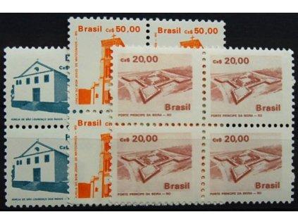 Brasilie, 1987, 10, 20 a 50Cz Stavby, **