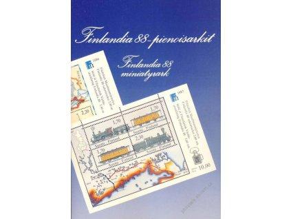 1988, Finlandia, pamětní destičky s aršíky, **