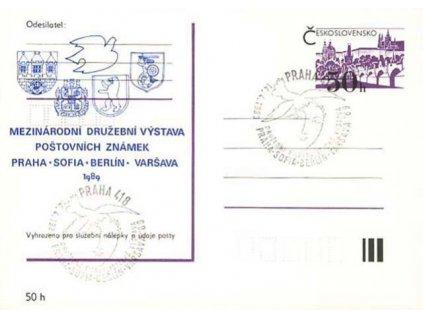 1989, Praha, Sofia, Berlin, Varšava, dopisnice
