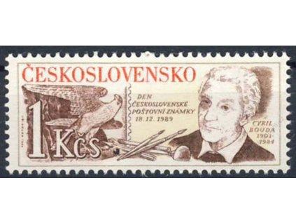 1989, 1Kčs Den známky, Nr.2920, ** , průpich-Vzor