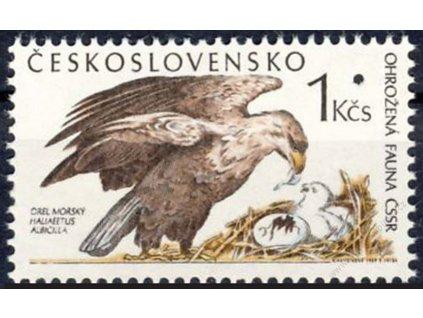 1989, 1Kčs Ohrožená fauna, Nr.2897, ** , průpich