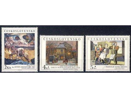 1989, 2-5Kčs série Umění, Nr.2917-19, ** , Vzor