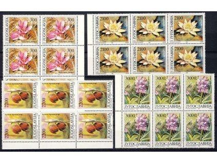 1989, 300-3000Din série Květiny, 6bloky, **