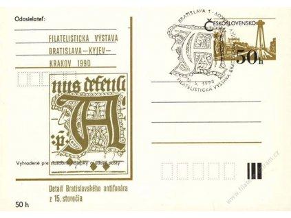 1990, Bratislava-Kyjev-Krakov, Výstava známek