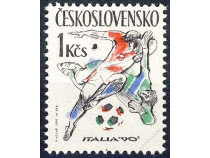 1990, 1Kčs MS v kopané, Nr.2941, ** , průpich