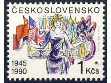 1990, 1Kčs Osvobození, Nr.2939, ** , průpich