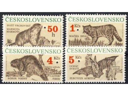 1990, 50h-5Kčs série Ochrana přírody, ** , průpich