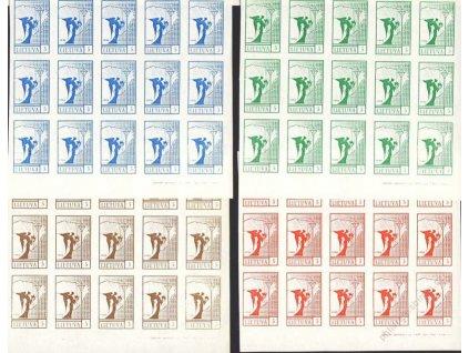 Lietuva, 1990, 5K, 15bloky, ZT - různé barvy, (*)