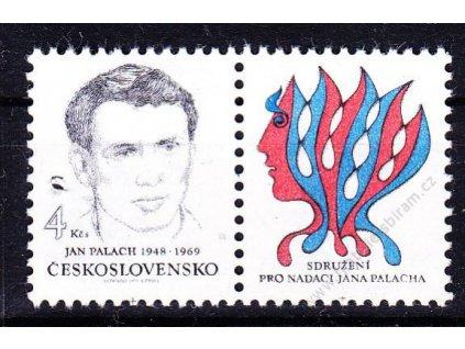 1991, 4Kčs Palach, kupon, VZOR, Nr.K2982, **
