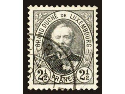 1891, 2 1/2Fr Adolf, MiNr.65B, razítkované