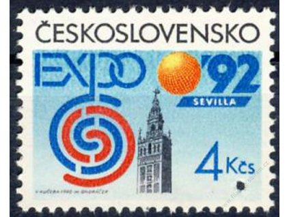 1992, 4Kčs EXPO 92, Nr.3004, ** , průpich - Vzor