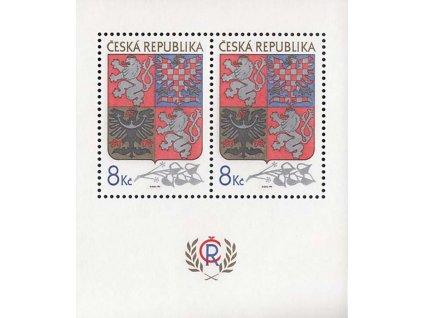 1993, aršík 8Kč Znak ČR, Nr.A10, **