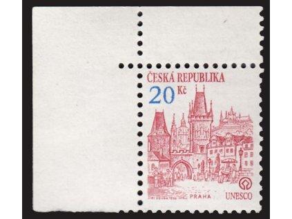 1993, 20Kč Architektura, DV - skvrna v 0 , Nr.DV 18, ** , dvl