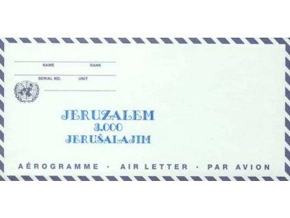 1997, aerogram Jeruzalem 3.000 Jerušalajim