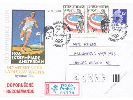 1998, Praha, Olympijský den, dopisnice