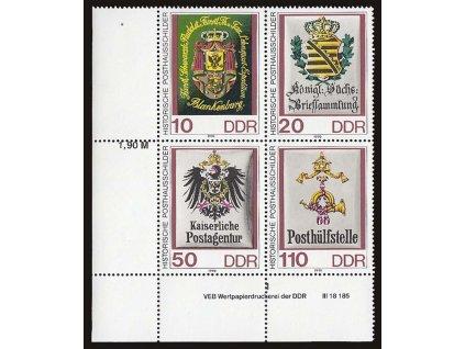 1990, 10-110Pf soutisk Znaky, DZ, MiNr.3302-5, ** , dv